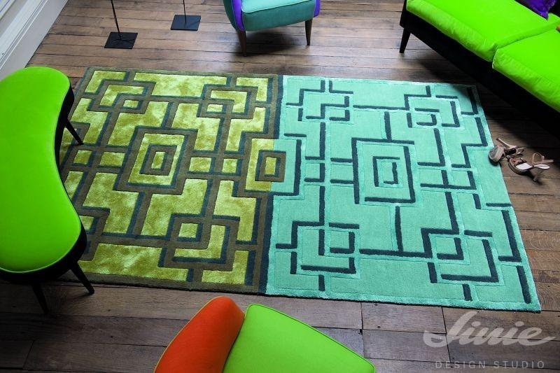 kusový koberec designers guild tyrkysová