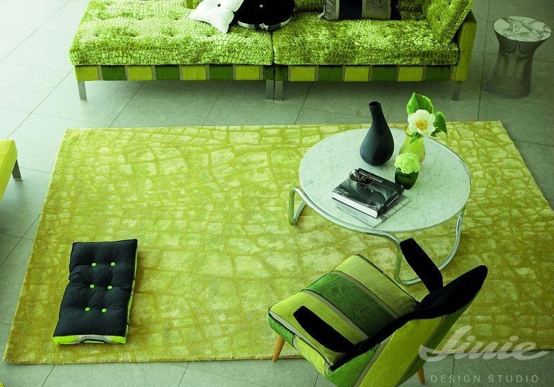 zelený limetkový kusový koberec designers guild