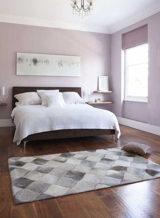 Interiérový kusový koberec s motivem šedých kostek
