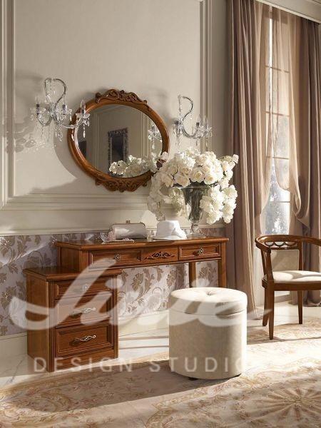 Inspirace pro ložnice v luxusním stylu s tmavým dřevem