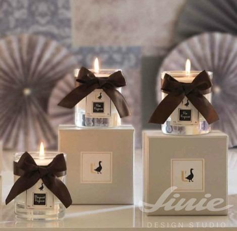 luxusní vonné svíčky ve skle loca nera