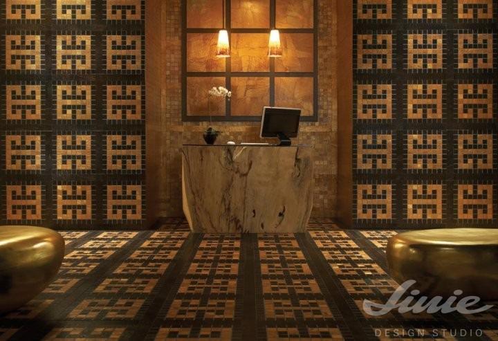 Luxusní podlaha se zvorem hnědá