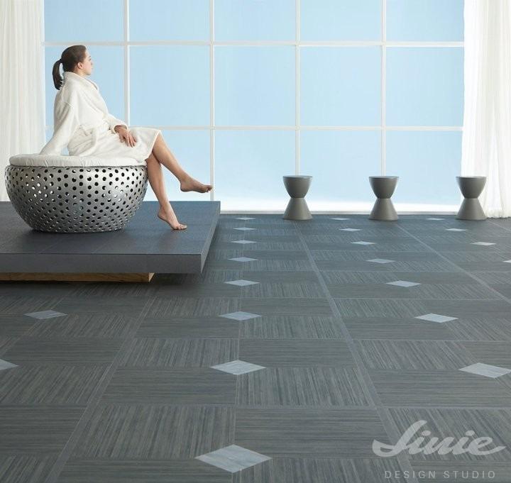 luxusní marmoleum pro bazenové místnosti