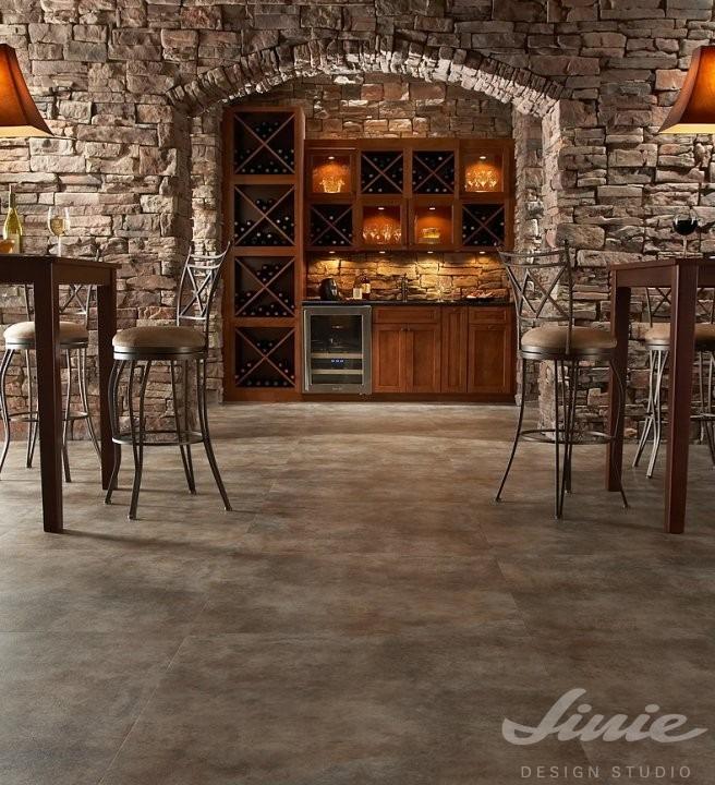 Interiérová podlaha hnědá do vinárny