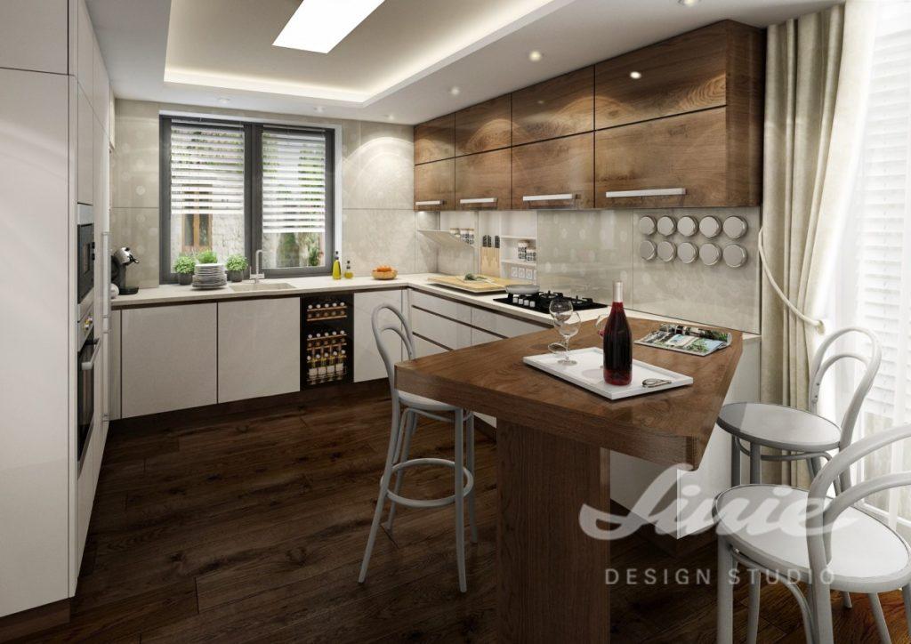 Realizace kuchyně s dřevěnými prvky