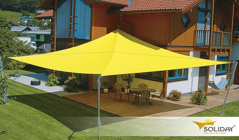 Stínící sluneční plachta žlutá navíjecí