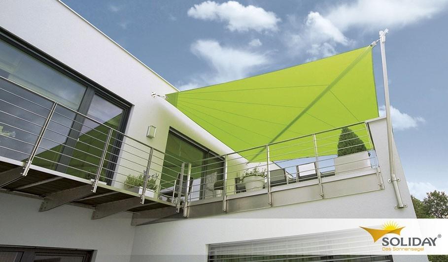 Zelená sluneční plachta na balkon