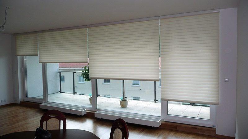 Stínící technika interiéru v bílé barvě