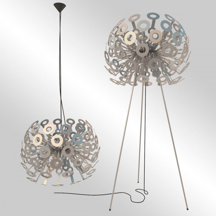 Moderní svítidlo stojací stropní v pastelových odstínech