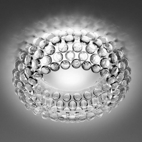 Moderní stropní osvětlení s prvky ze skleněných kuliček