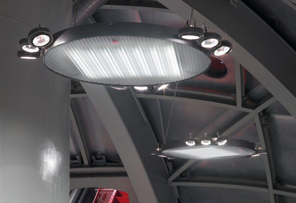 Moderní stropní svítidlo kulaté v tmavé barvě