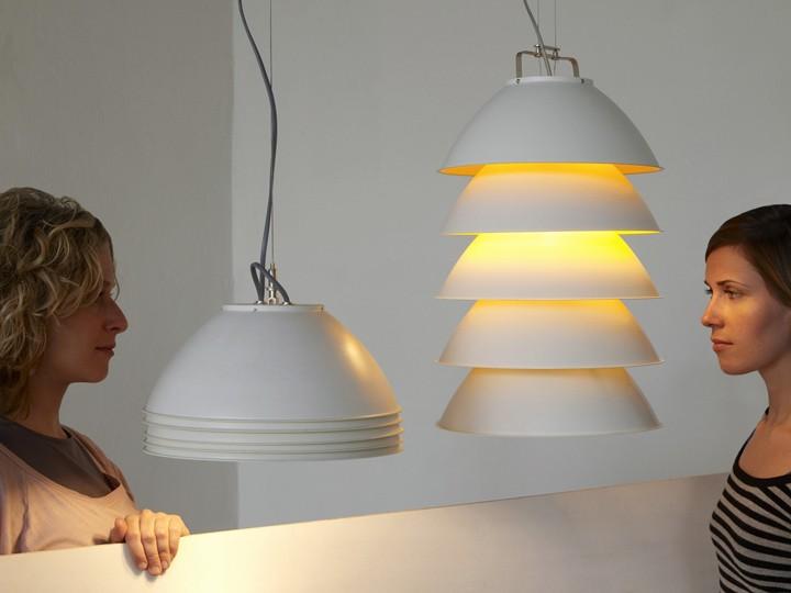 Moderní svítidla skládací v bílé barvě