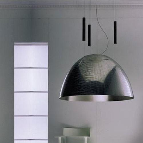 Moderní stropní svítidlo leskle šedé