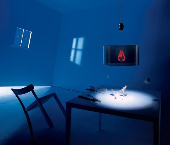 Moderní stropní svítidlo v neobvyklém provedení