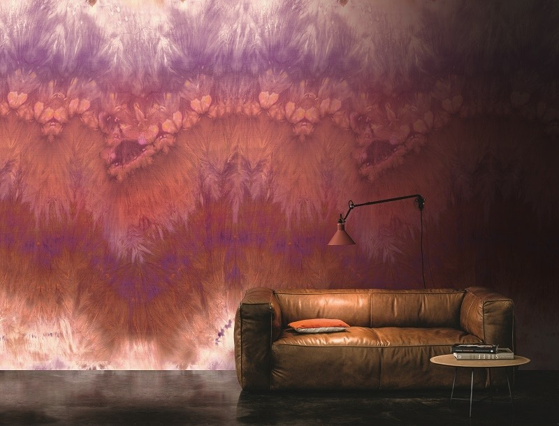Tapeta na zeď v teplých odstínech