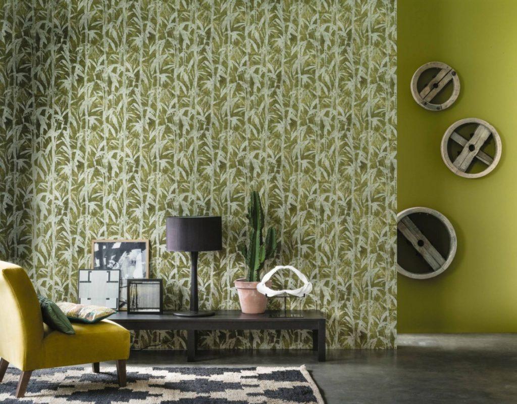Zelená rostlinná  tapeta na zeď