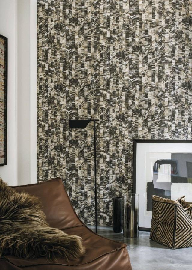 šedá tapeta na zeď výrazná