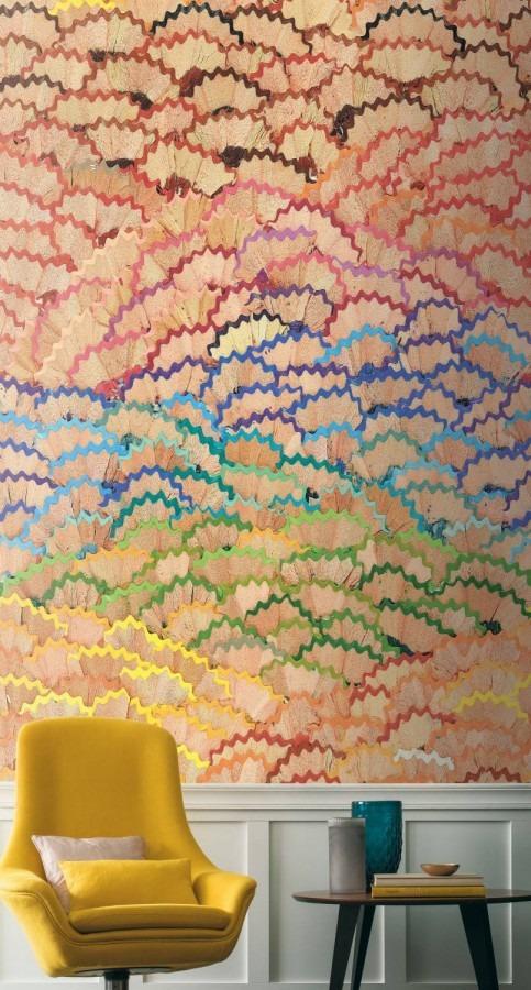 dětská obrazová tapeta pastelky do školy