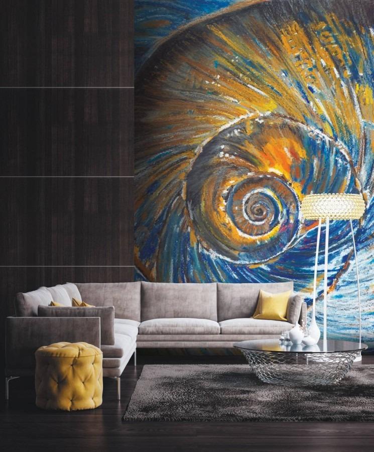 abstraktní tapeta spirála