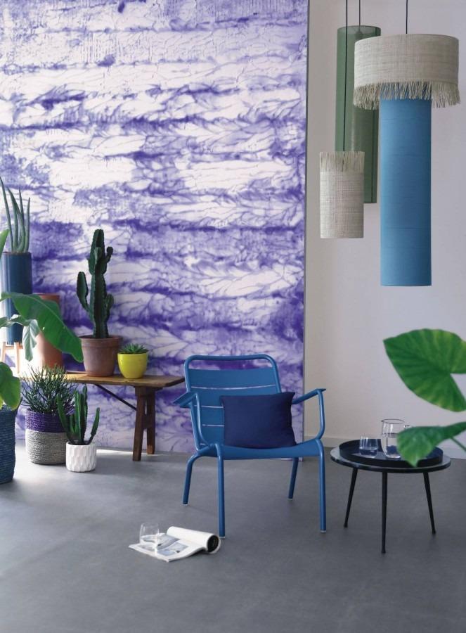 tapeta batikovaná fialová