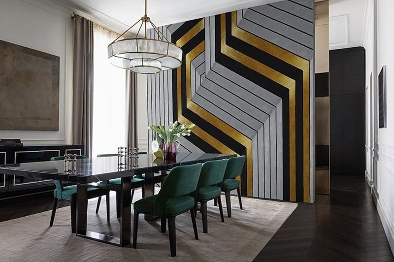 Geometrická tapeta na zeď