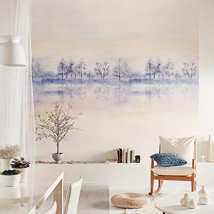 Obrazová tapeta pudrově růžová