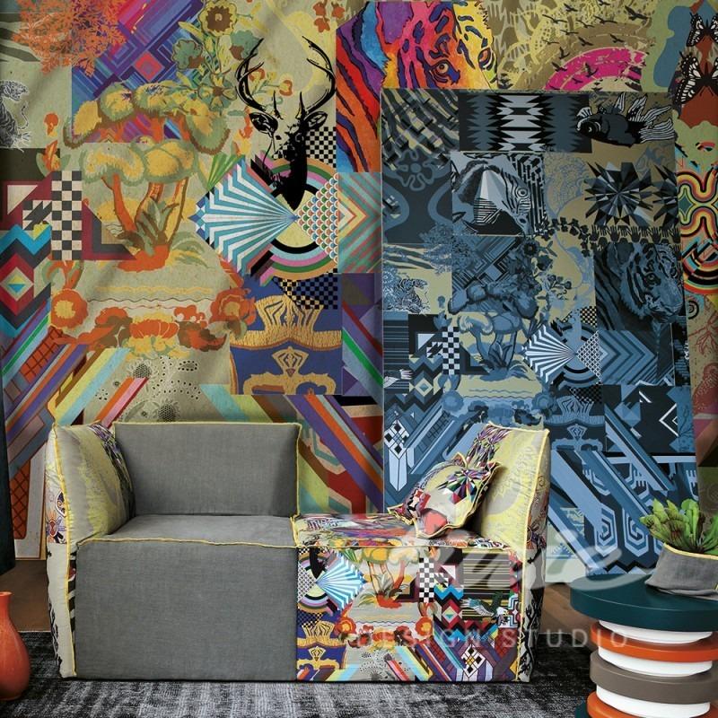 Barevná moderní tapeta na zeď