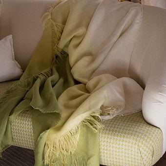 batikovaná deka zelená ombre