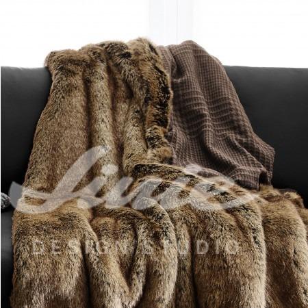 Teplá deka z kožešiny