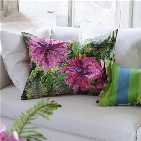 Dekorační polštářek se vzorem květin