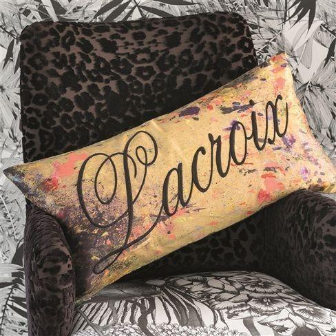 Dekorační polštářek s nápisem Lacroix