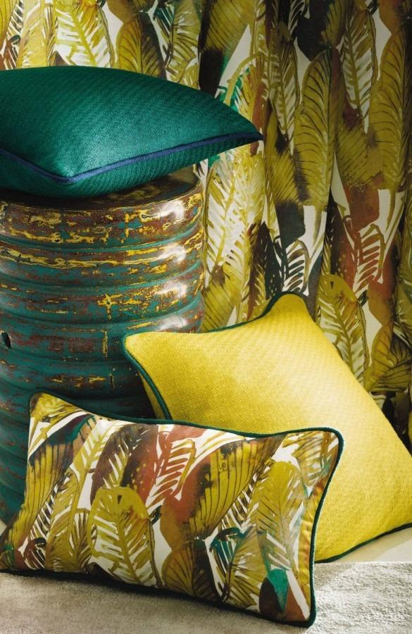 Dekorační polštářky s různými vzory v přírodních barvách Casamance