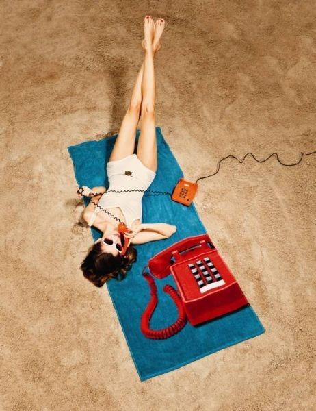 Koupelnová osuška s motivem telefonu