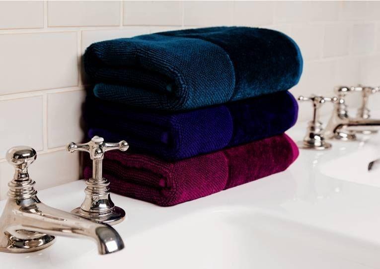 Souprava ručníků v sametových odstínech