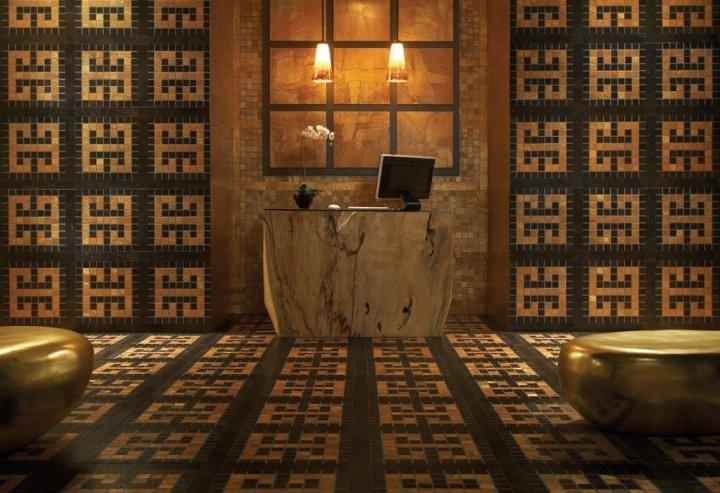 Vinylová podlaha s moderním vzorem