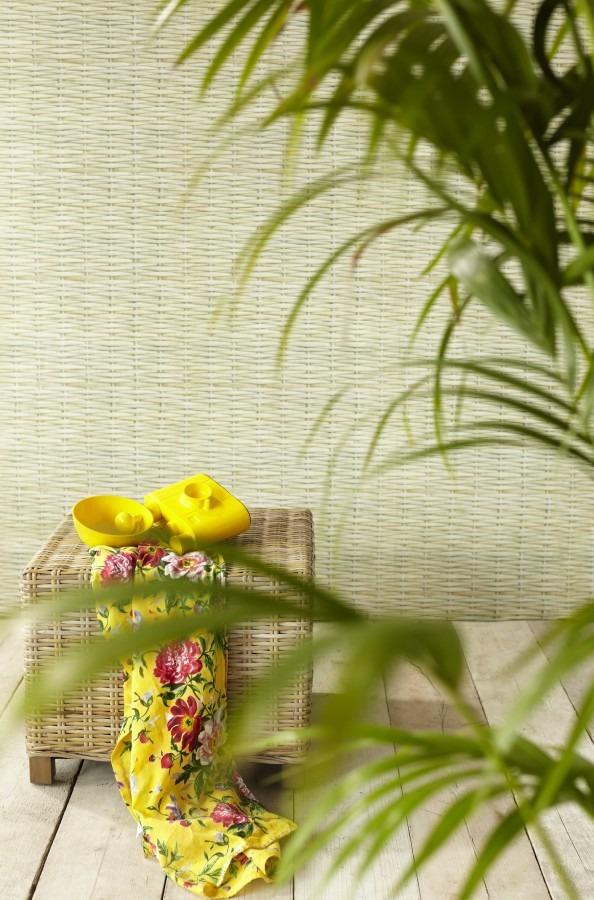 Pokojová rostlina, šátek, proutěná podnožka
