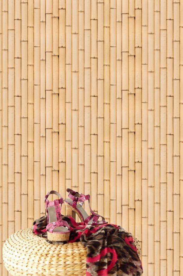 Nástěná tapeta s bambusem, dámské boty