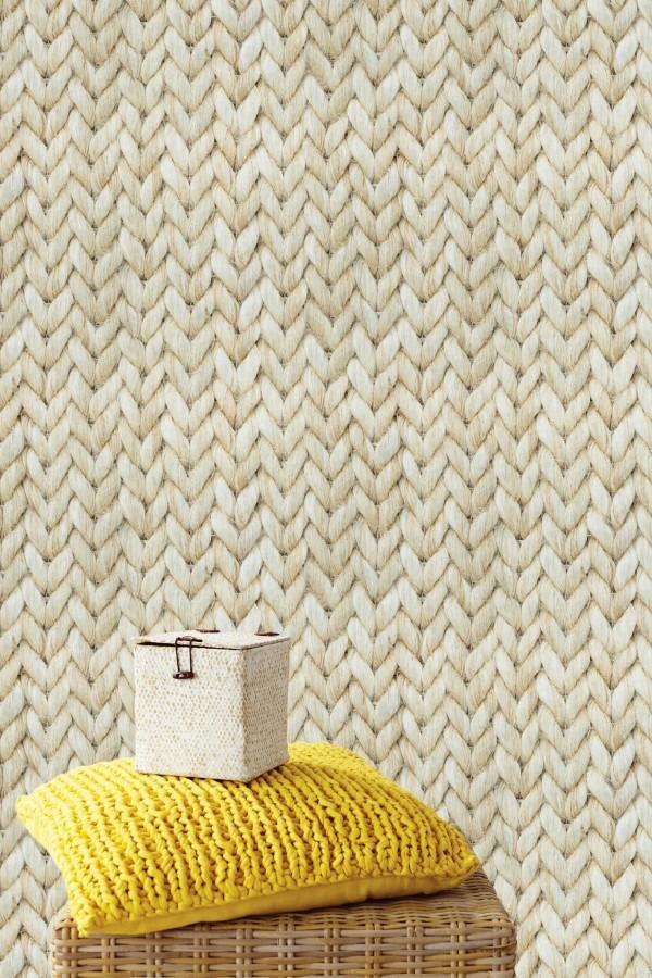 Nástěnná tapeta s vlněným motivem, polštářek