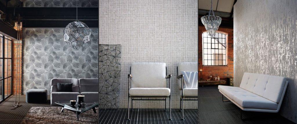 Vzorovaná tapeta na zeď v obývacích pokojích