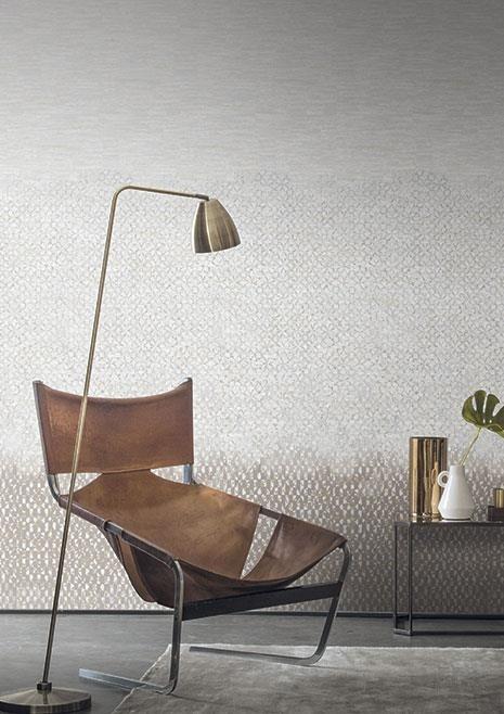 Minimalistická tapeta na zeď v obývacím pokoji