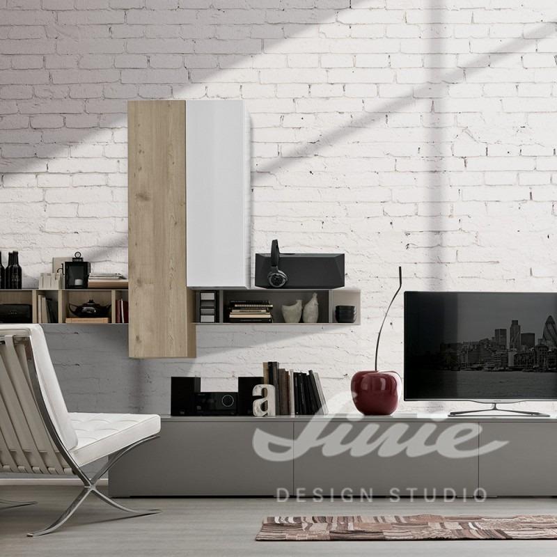 Nástěnná tapeta s cihlovým vzorem v obývacím pokoji