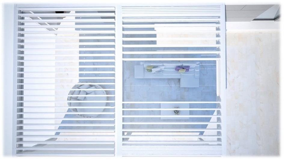 Moderní zastínění terasy - bílé