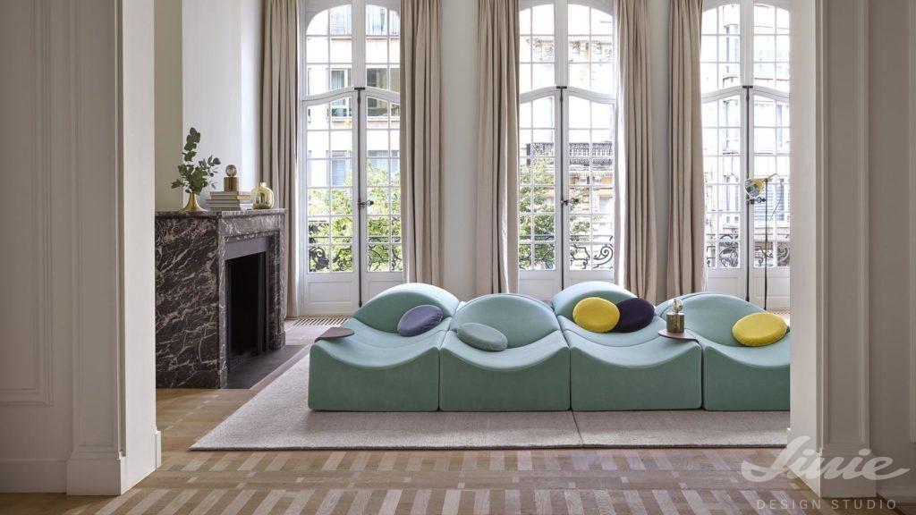 Modulární pohovka LigneRoset, nábytek a doplňky