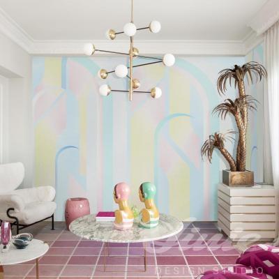 Pastelová tapeta na zeď