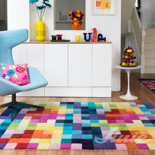 kusový koberec barevný dětský