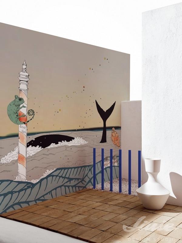 Obrazová tapeta na zeď do dětského pokoje retro