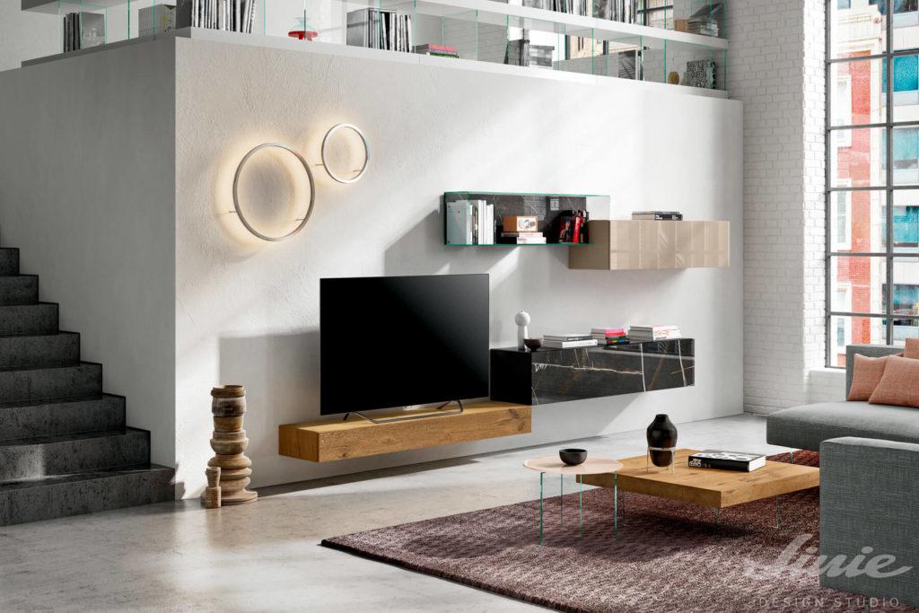 minimalistická tv stěna LAGO