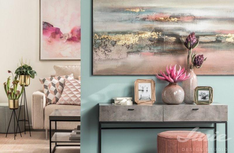Obraz na stěnu růžový modrý L'ocaNera