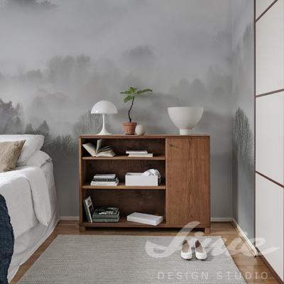 Tapeta na zeď les v mlze