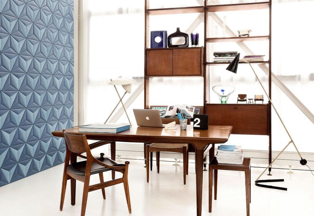 Dekorativní stěny z kůže StudioArt modré